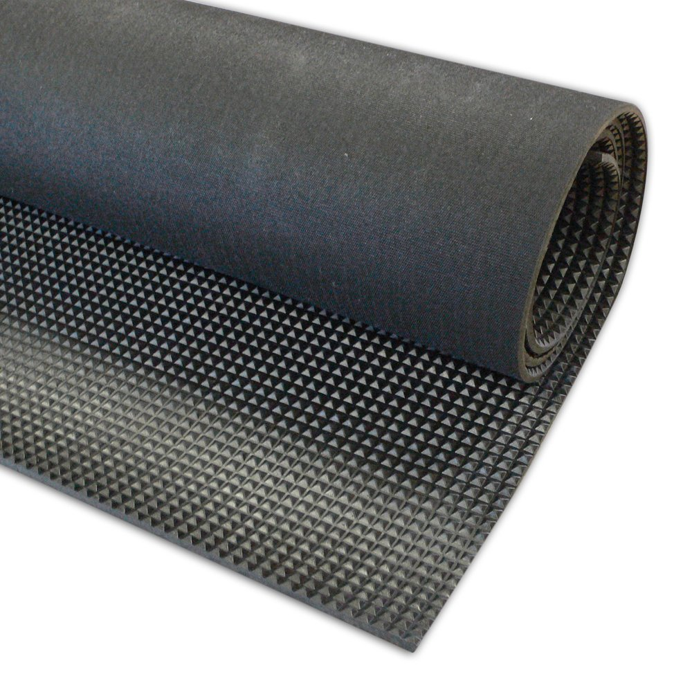 Great Wall Tensile strength 5 Mpa Black Pyramid Rubber Sheet Anti slip rubber Mat 3.2mmx 0.6m x 10m Long A Grade