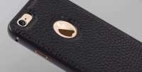 metal frame + pasted leather back cover 2 in 1 hybrid mobile phone case for apple iphone 5