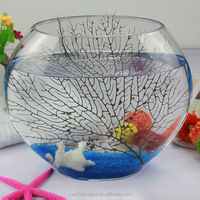 Handmade Decorative Round Glass Big Fish Bowl Fish Tank