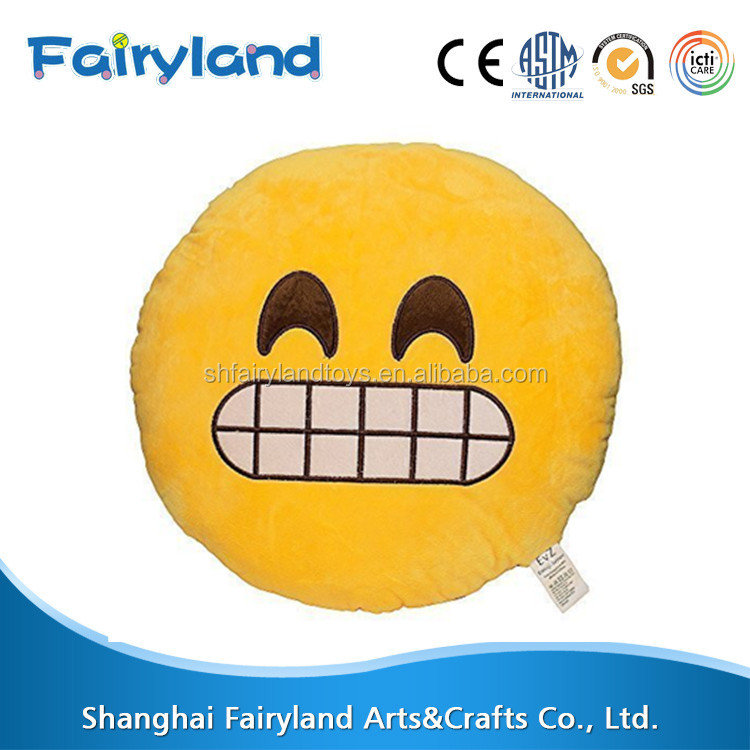 Cute 32cm Emoji Smiley Pillow Stuffed Plush Soft Toy (Hunger)