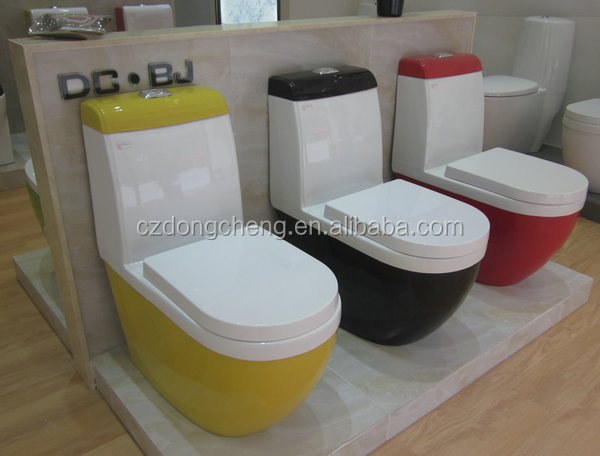 New design Chaozhou bathrooom washdown colored toilet bowl sinks
