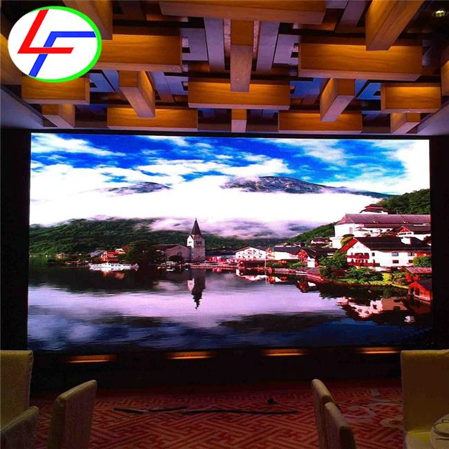 Asynchronous and synchronous 2017 conference room using p3.91 fixed high-definition live cricet match led display screen