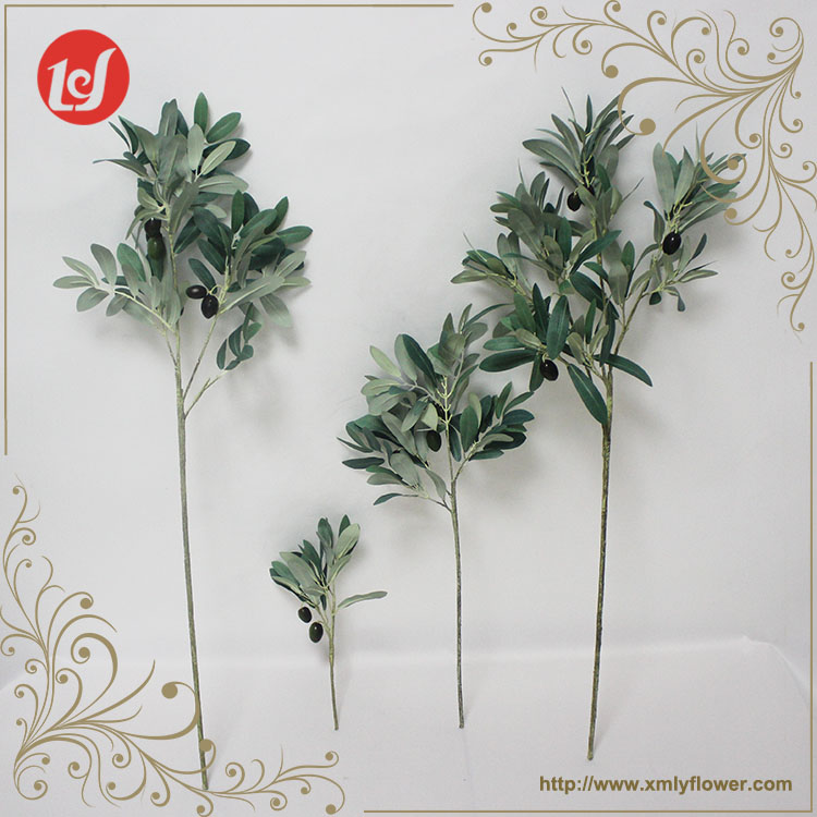 SFH63005-008 Hot Sales for Christmas Tree Decorations Plastic Olive Leaf Plant Many Size Olive Branches Artificial Leaves