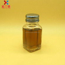 wholesale square shape glass spice jar with lid