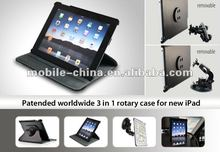 2in1 rotatory case with window mount for ipad3