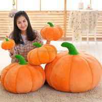 wholesale Christmas Halloween gifts plush toys soft big pumpkin shape plush toys pumpkin Warm hand pillow