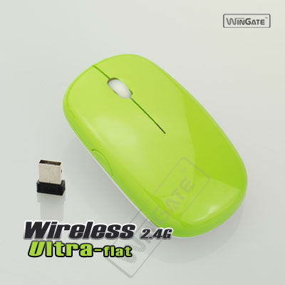 NEW Ultra-thin Mini 2.4G USB 2.0 Wire less Op tical Mouse Mice for PC Lap top