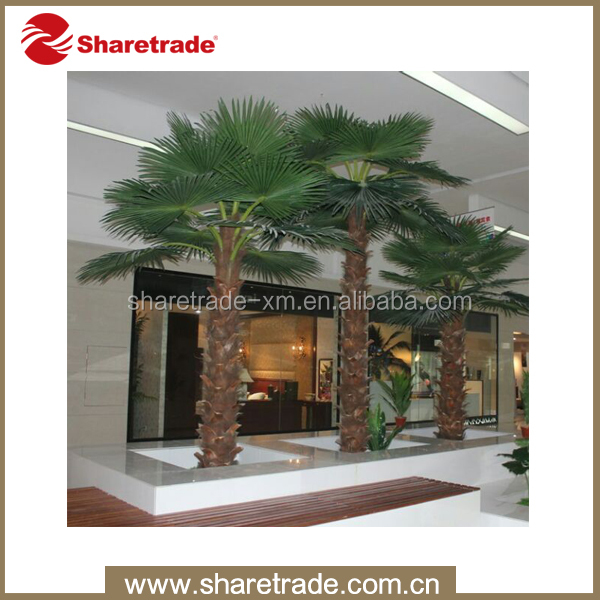 high quality indoor decorative plastic artificial palm trees