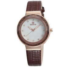 Factory Fashion Woman Leather Band Custom Made Dials Lady Watch