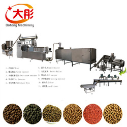 Floating fish food feed pellet field twin screw extruder type making processing line machines