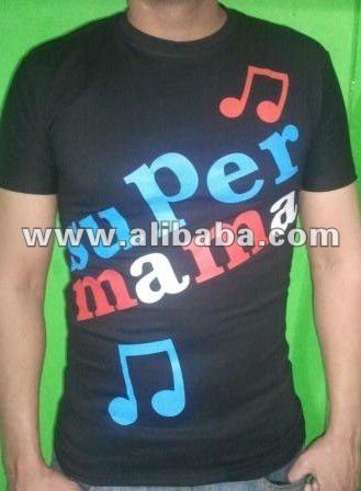 Party wear black color T-Shirt in 100% cotton