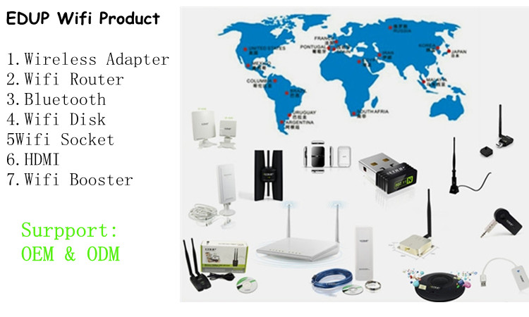 2.4GHz/5.8GHz Dual Band 600Mbps Blue-tooth USB Wifi Wireless Adapter With IEEE802.11a/b/g/n/ac Standard