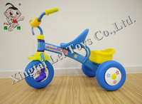 Wholesale exercise safety three wheel child tricycle metal bicycle,thickened frame baby bike tricycle for kid plastic wheel