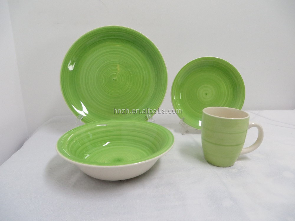 Stoneware table sets colorful mexican ceramic dinnerware sets