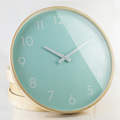 Simple Style Round Shape Home Decorative Wood Quartz Wall Clock