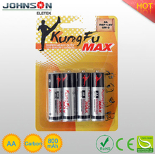 china wholesales the zinc carbon r6 aa dry battery