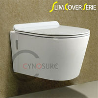 SLIM SEAT COVER! CE APPROVED! A-GRADE HOT SALE WALL HUNG TOILET! Vitreous China Porcelain Sanitary Ware for wholesale/OEM