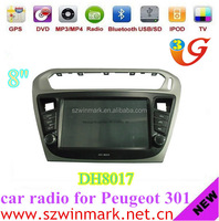 Hot Selling! automotive radio gps audio player car dvd player for Peugeot 301 DH8017