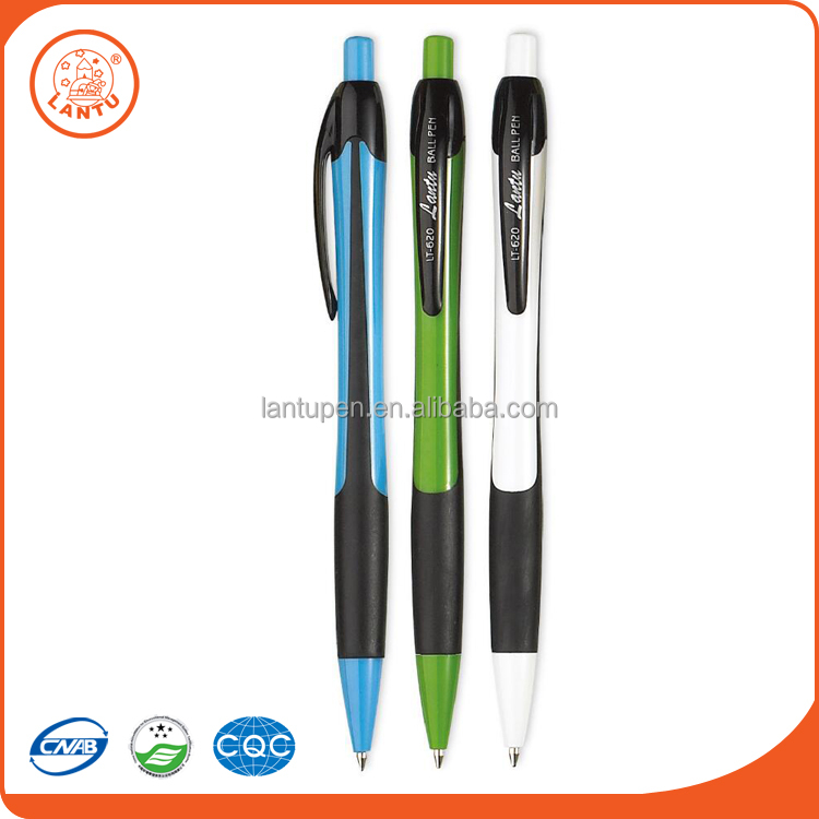 Lantu 2016 Hot New Products Custom Logo 3 Colors Office Plastic Ball Point Pen