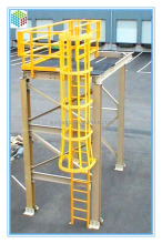 Flame retardant grp caged ladder