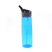 2015 cheapest tritan drinking water bottle with top handle,plastic drinking water bottle