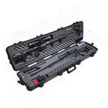 Wholesale Rugged military rifle boxes high protective military grade cases waterproof gun cases