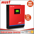 MUST 3KVA 5KVA Pure Sine Wave Transformerless Hybrid Solar Inverter for Home Solar System