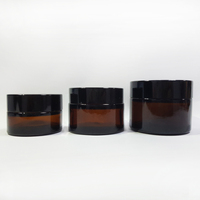20ml 30ml 50ml Cosmetic Matte Black Skincare Jar