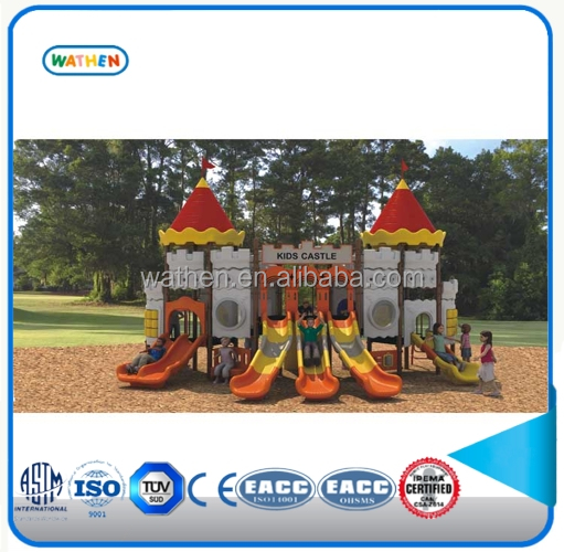 Kids castle series plastic outdoor playground equipment slide for sale