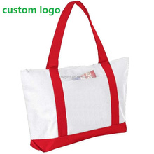 Zip Lock Cotton Personalized Promotional Folding Shopping Clothes Bag