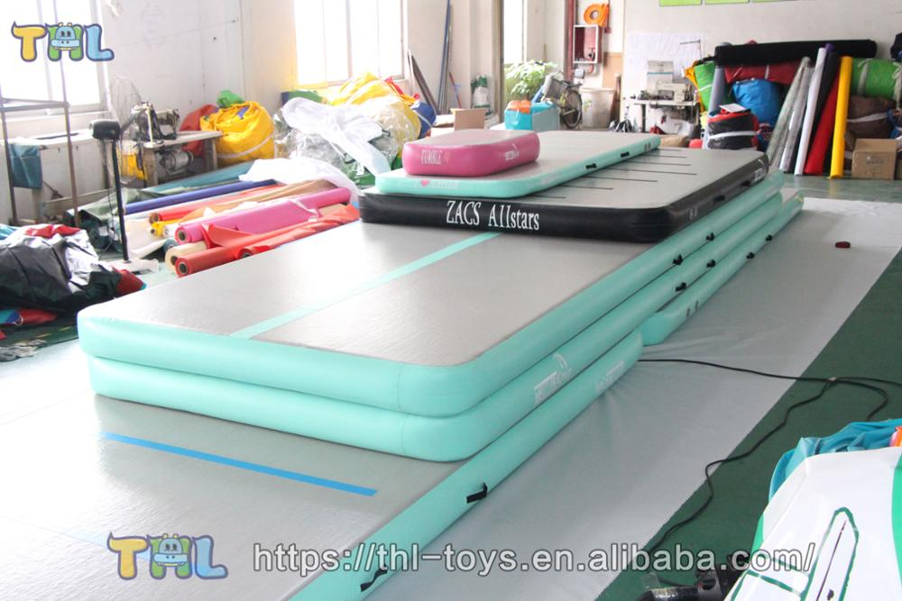 factory manufactory used air track for sale/tumble track inflatable air mat for gymnastics
