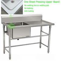 Various Design Pressing drainboard commercial stainless kitchen sink
