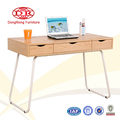 Tribesigns Modern Wooden Stylish Laptop Table With 3 Drawers