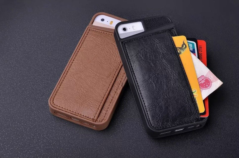 TPU Case Cover with leather wallet card slot for iphone 6 6g 4.7inch 100pcs/lot free shipping