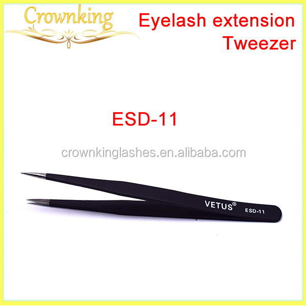 Eyelash Extension Tweezers, ESD stainless steel tweezer for eyelash and eyebrow exension