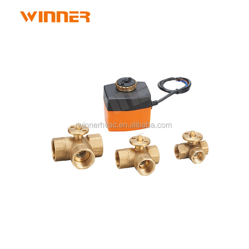 mini 12vdc dc motor operated irrigation electric control ball valve