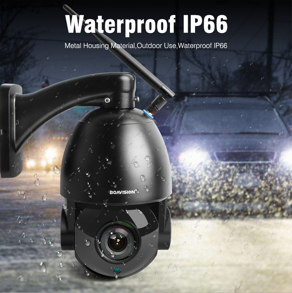 1080P Wireless PTZ Dome IP Camera WIFI Outdoor 20X Optical Zoom CCTV Security Video Camera Audio Speaker 80m IR 25fps IP PTZ
