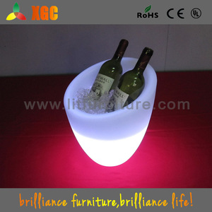 LED barrel cooler/lighting ice cooler pot/glowing beverage tub for party event