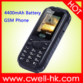 Hot Sale CAGI XP3600 Dual SIM 4400mAh Power Bank Function China GSM Rugged Style Mobile Feature Phone