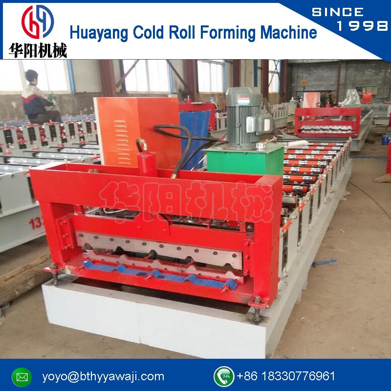 Warranty shanghai kejo step tile roof/ wall roof cold roll forming machine