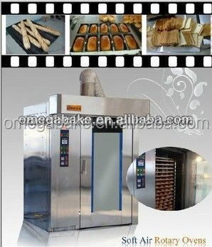 2016 hot sale bakery equipment french bread baking rotary trolley furnace
