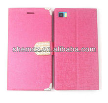 Hight quality for xiaomi m3 mi3 leather case,brand new leather case for Xiaomi mi3,m3 case