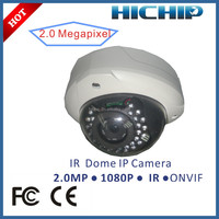 60fps 1080P IR-20m Vandalproof Dome IP Security Surveillance Camera with motion detection alarm