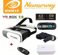 2.0 Version Portable Virtual Reality Headset 3d adult video glasses for Smartphone watching movies, games