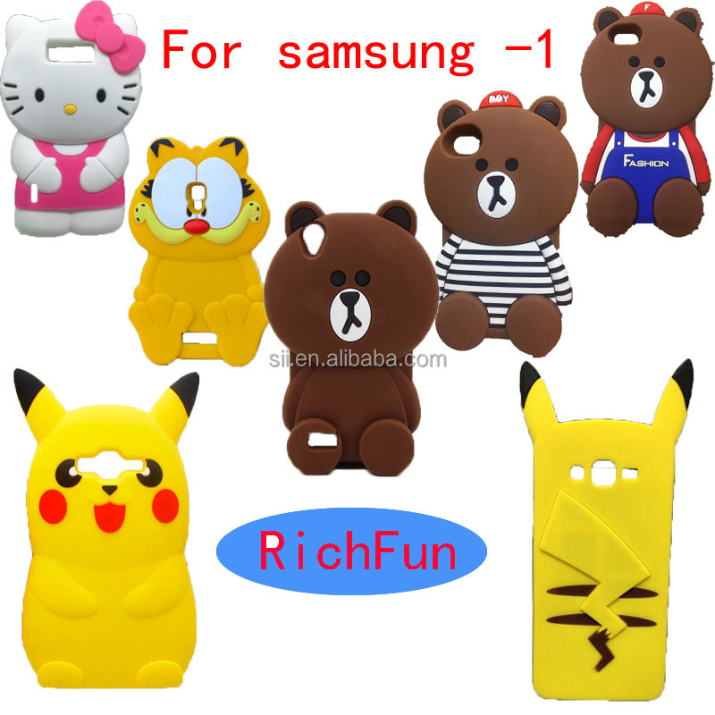 Hot 3D Lovely Cute Cartoon Brown Bear Soft Silicon Back Cover Phone Case For Samsung Galaxy S2 S3 S4 S5 S6 S7 S8 edge Plus