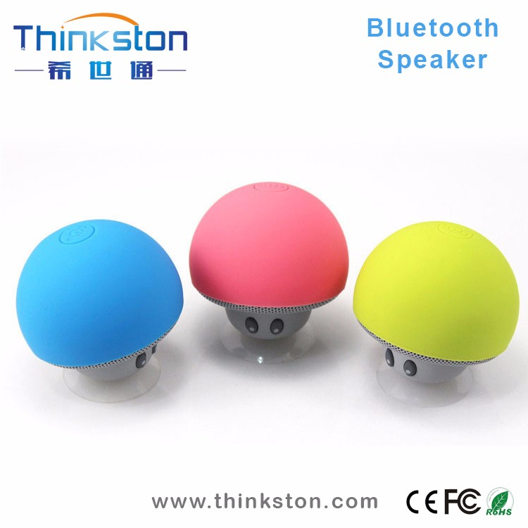 Portable Mushroom Design With Mic Suction Cup Bluetooth Speaker