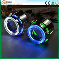 Motorcycle Headlight 2.5 inch HID Bi-xenon Lens Projector With Double Angel Eyes Xenon Headlamp Light Kit H1 H4 H7