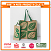 2016 new style jute tote bag for putting bottle