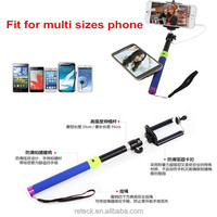 Hot New Z07-5 folding wired selfie stick monopod with phone clip