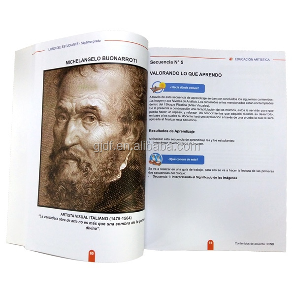 Colorful School Book Educational Textbook Printing
